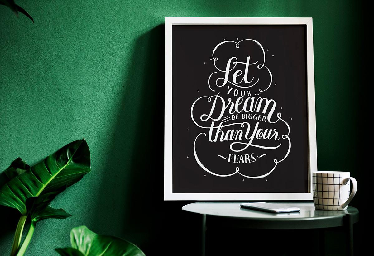 Фразы на английском.Let your dream be bigger than your fears