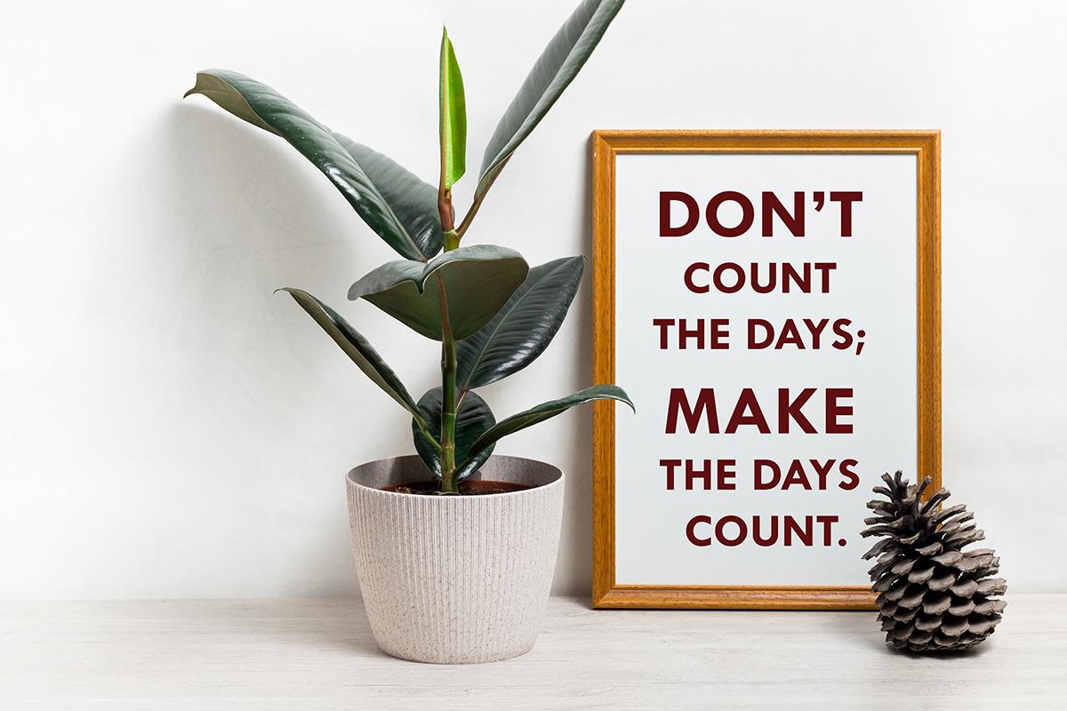 Цитаты на английском. Don't count the days; make the days count