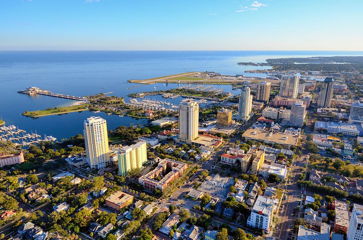 Города в США с русскими названиями. Сент-Питерсберг, штат Флорида
